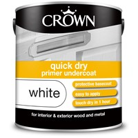 Crown  Quick Dry Undercoat - 2.5ltr - Brilliant White