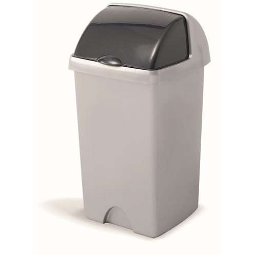 Addis  Roll Top Bin Metallic - 24 Litre