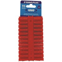 Rawlplug Uno Red Plug - 96 Pack
