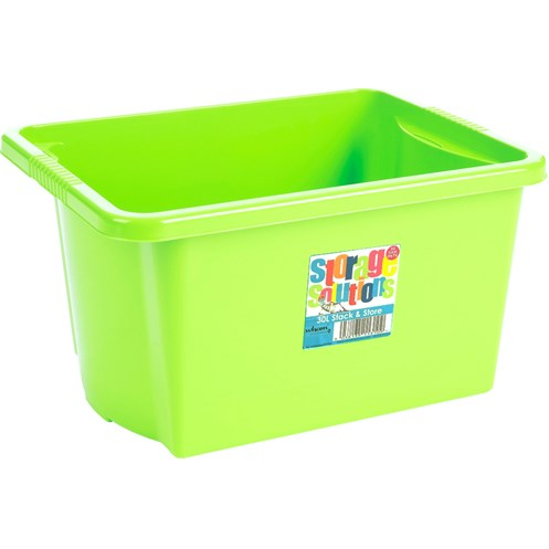 Wham  Stack & Store Storage Box Lime - 30 Litre