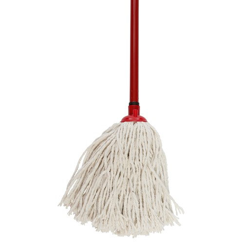 Dosco  White Mop Head & Handle with Coloured Socket No.12