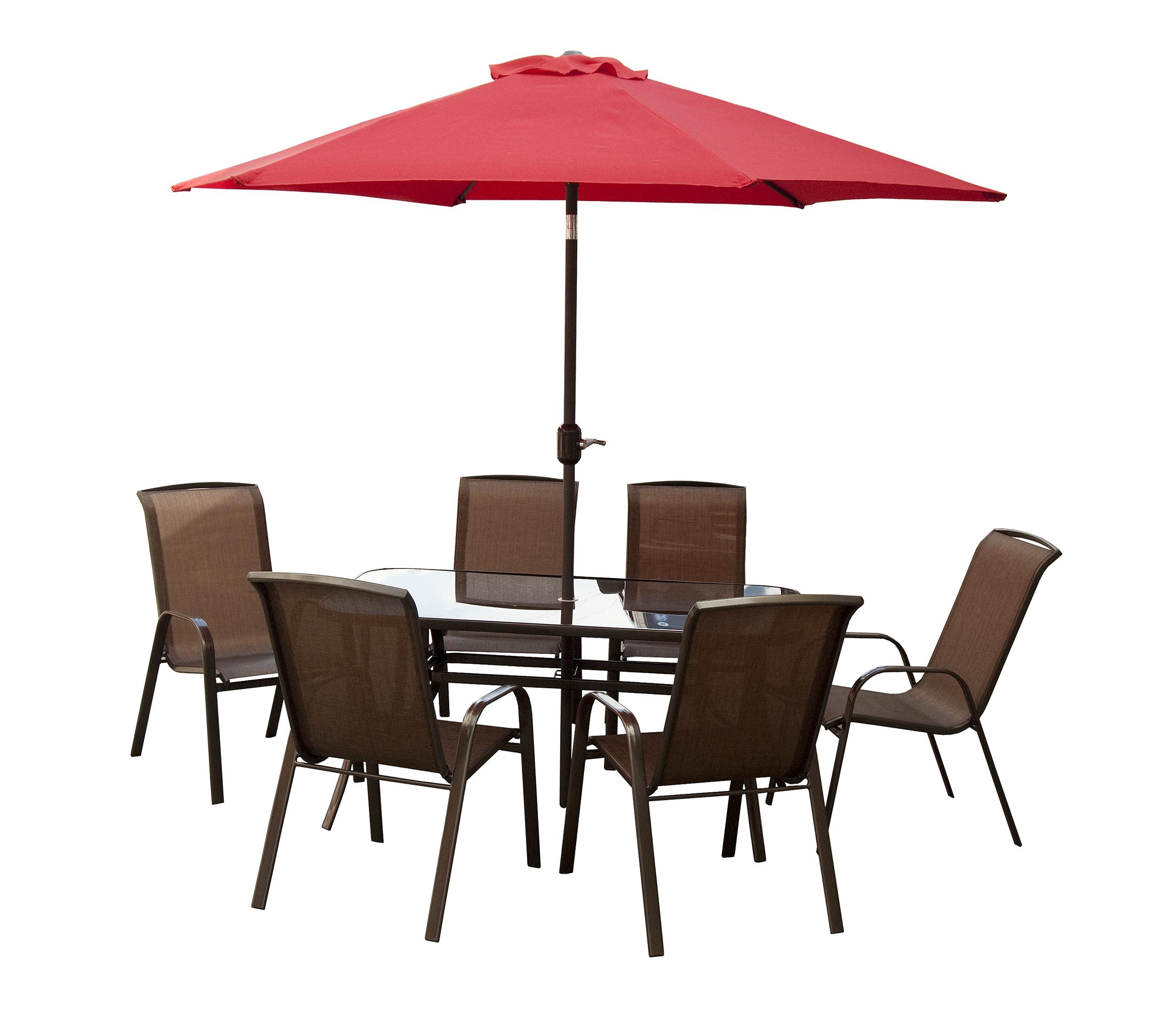 Merveilleux Courtyard Ashford 8 Piece Patio Furniture Set