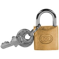 Tri- Circle  Heavy Duty Brass Padlock - 20mm